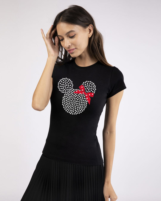 Shop Sequins Mickey Half Sleeve T-Shirt (DL)-Design