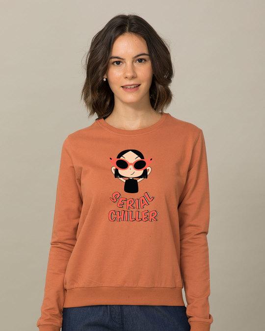 Shop Serial Chiller Girl  Sweatshirt-Front