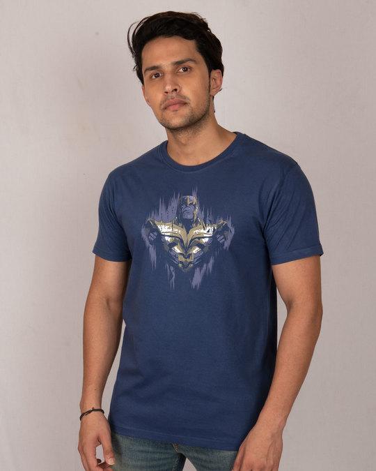 Shop Serious Thanos Half Sleeve T-Shirt (AVEGL)-Front
