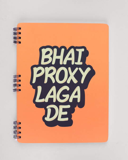 Shop Set of 2: Le Rakhi Hain & Proxy Lagaa De Notebooks-Full