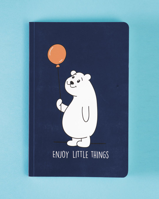 Shop Set of 2: No Bad Vibes & Enjoy Little Things A5 Notebooks-Back