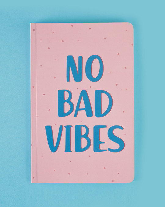 Shop Set of 2: No Bad Vibes & Enjoy Little Things A5 Notebooks-Design