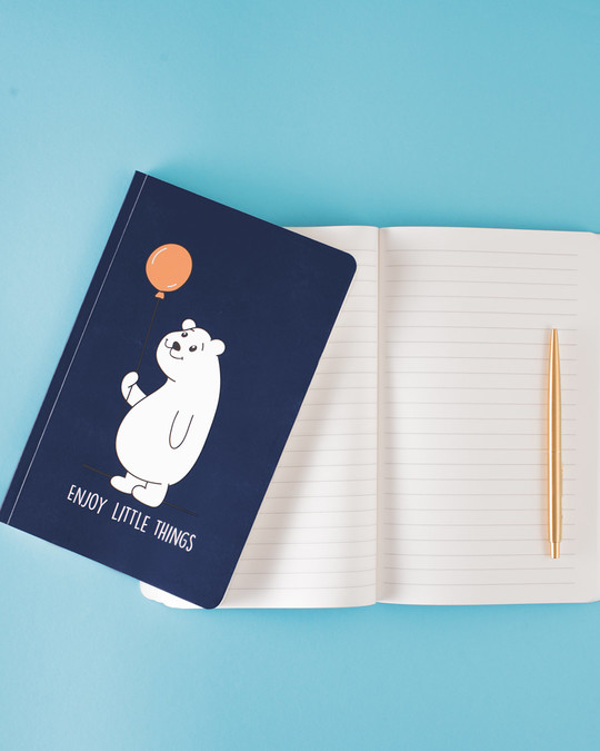 Shop Set of 2: No Bad Vibes & Enjoy Little Things A5 Notebooks-Full