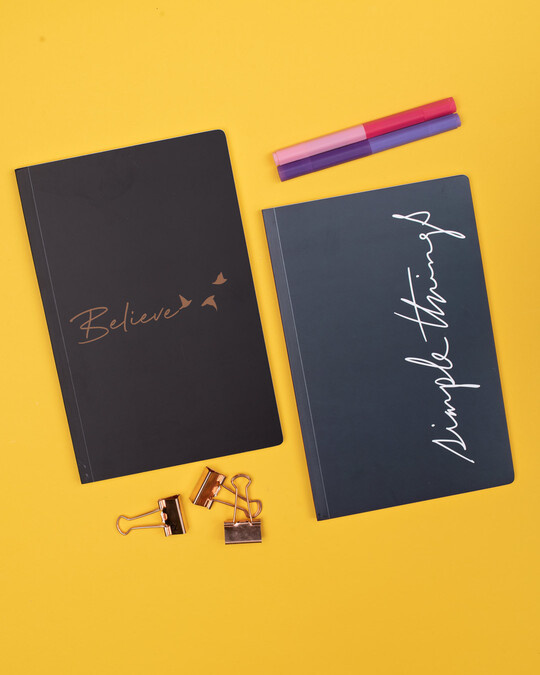 Shop Set of 2: Simple things & Minimal Believe Notebooks-Front