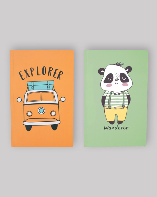 Shop Set of 2: Wandering Panda & Car Explorer Notebooks-Front