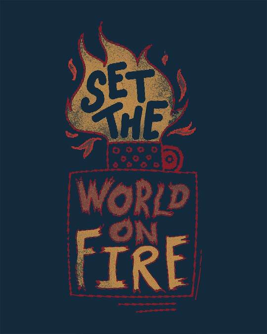Shop Set The World On Fire Boyfriend T-Shirt