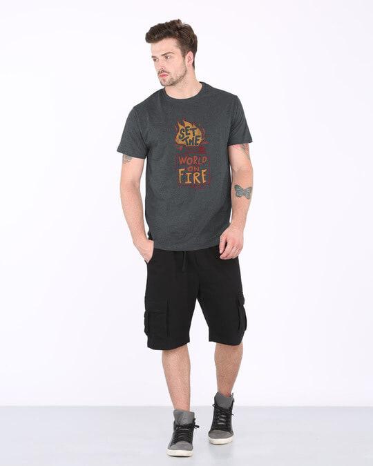 Shop Set The World On Fire Half Sleeve T-Shirt-Full