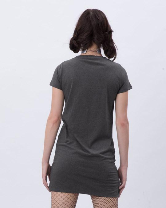Shop Shadow Grey Melange T-Shirt Dress-Full