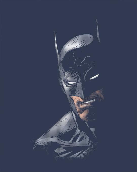 Shop Shadowy Batman Half Sleeve T-Shirt (BML)