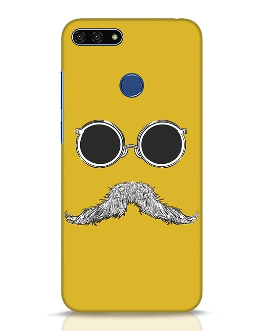 Shop Shady Moustache Huawei Honor 7A Mobile Cover-Front