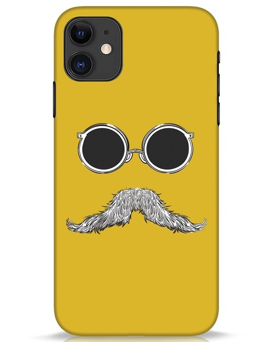 Shop Shady Moustache iPhone 11 Mobile Cover-Front