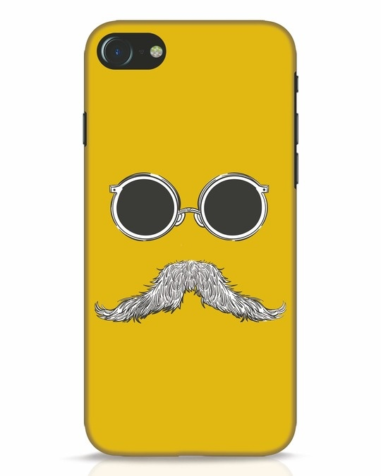 Shop Shady Moustache iPhone 8 Mobile Cover-Front
