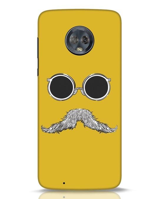 Shop Shady Moustache Moto G6 Mobile Cover-Front