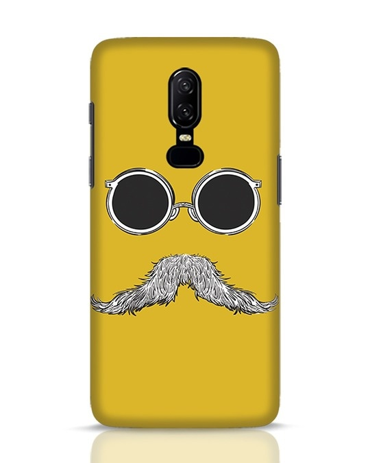 Shop Shady Moustache OnePlus 6 Mobile Cover-Front