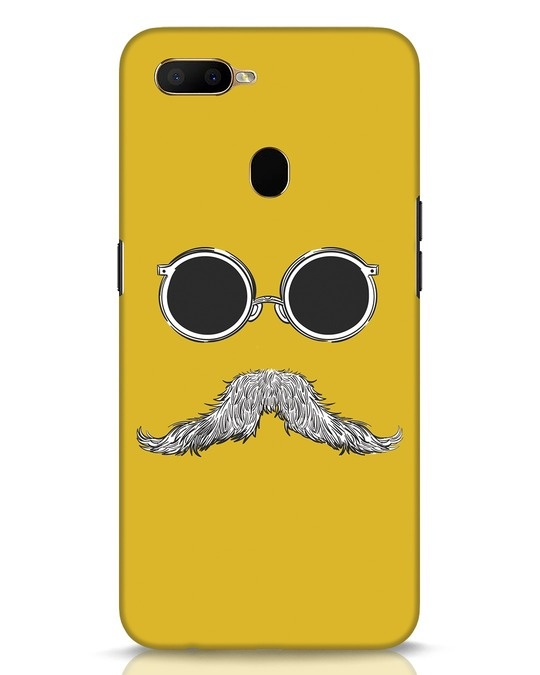 Shop Shady Moustache Oppo A5s Mobile Cover-Front