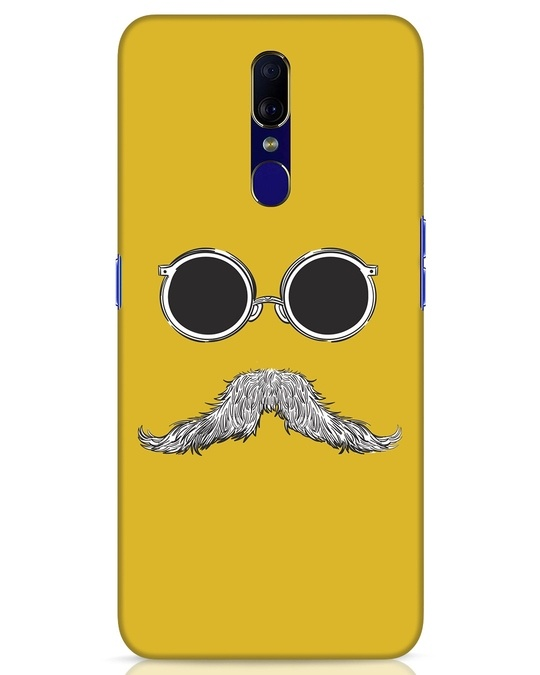 Shop Shady Moustache Oppo F11 Mobile Cover-Front