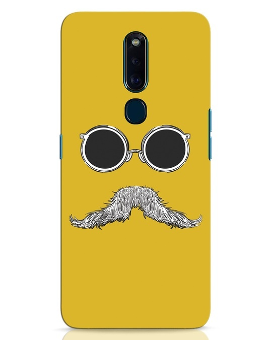 Shop Shady Moustache Oppo F11 Pro Mobile Cover-Front