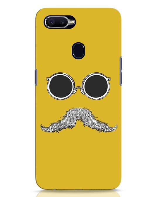 Shop Shady Moustache Oppo F9 Pro Mobile Cover-Front