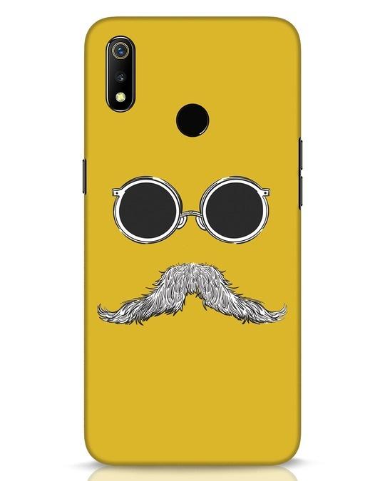 Shop Shady Moustache Realme 3 Mobile Cover-Front