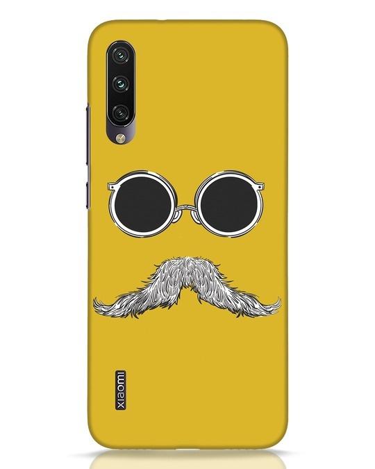 Shop Shady Moustache Xiaomi Mi A3 Mobile Cover-Front