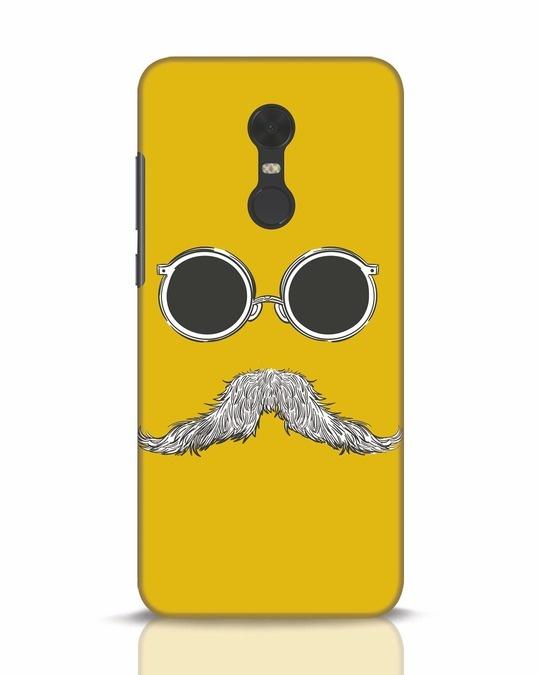 Shop Shady Moustache Xiaomi Redmi Note 5 Mobile Cover-Front
