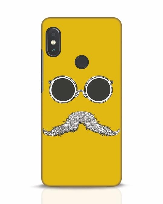 Shop Shady Moustache Xiaomi Redmi Note 5 Pro Mobile Cover-Front