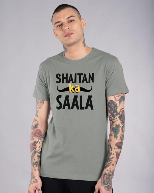 Shop Shaitan Ka Saala Half Sleeve T-Shirt-Front