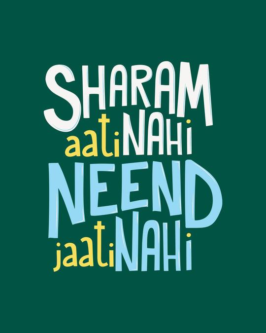 Shop Sharam Aati Nahi Full Sleeve T-Shirt