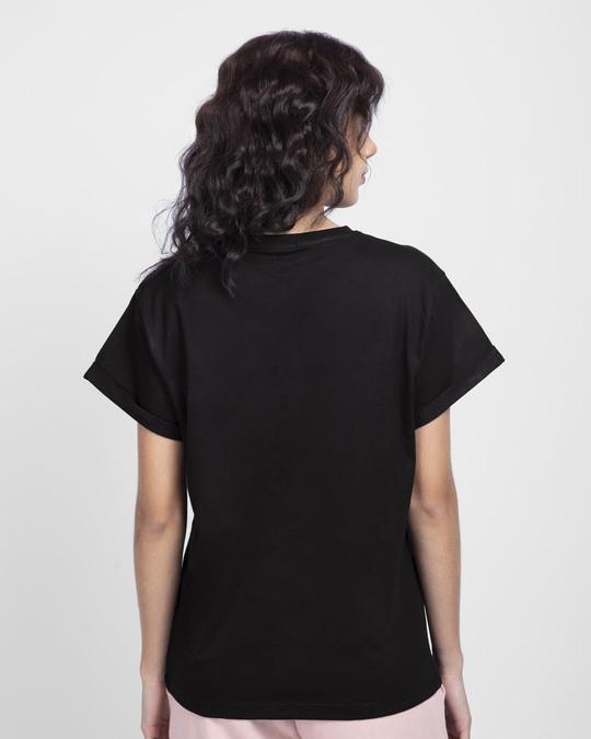 Shop Sharam Not Found Boyfriend T-Shirt Black-Back