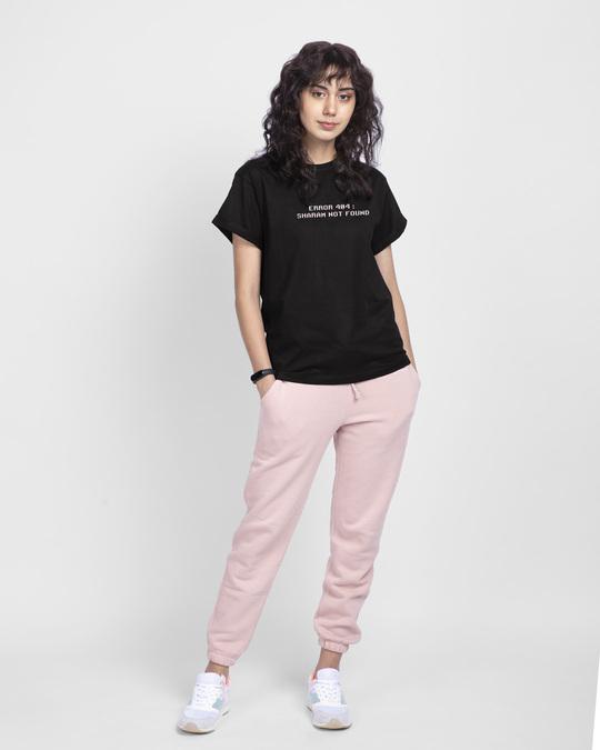 Shop Sharam Not Found Boyfriend T-Shirt Black-Design