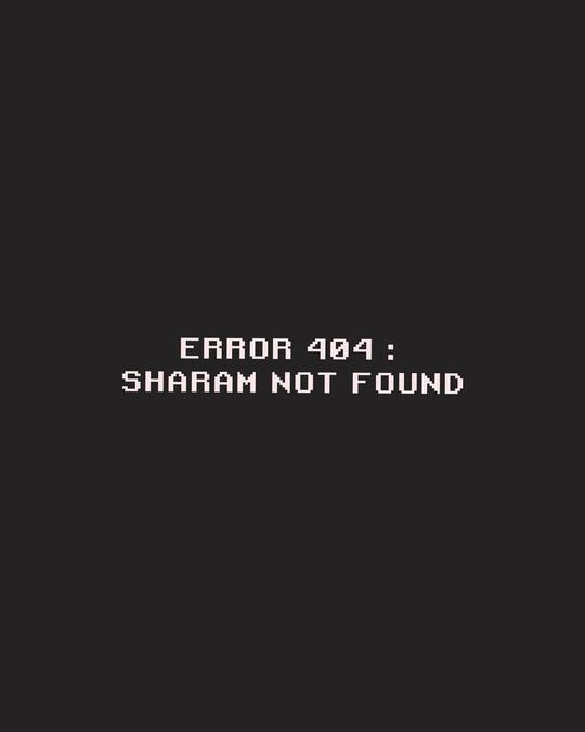 Shop Sharam Not Found Boyfriend T-Shirt Black-Full