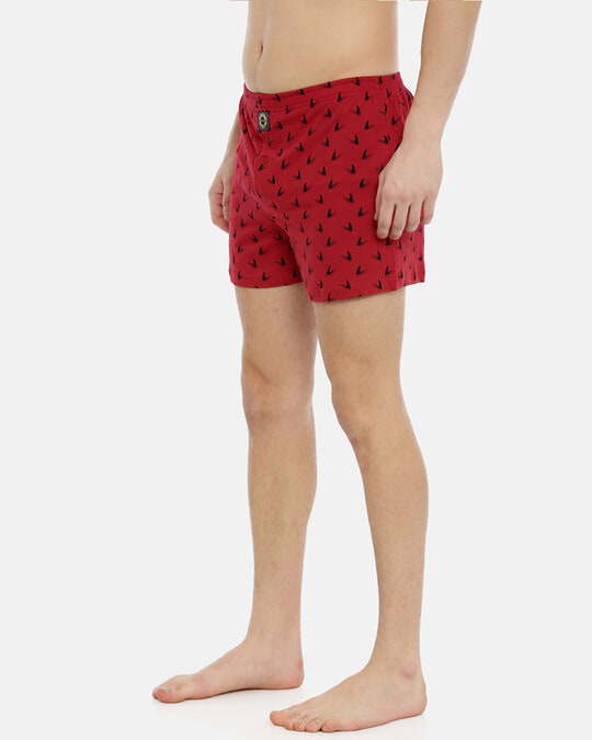 Shop Joven | Shark Fin Red Knitted Boxers-Design