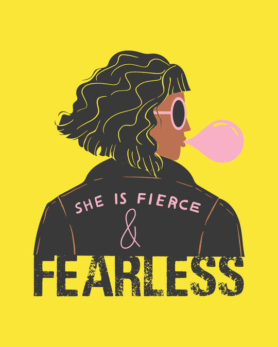Shop She Is Fierce Boyfriend T-Shirt