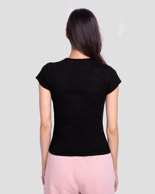 Shop She Wolf Half Sleeve T-Shirt Black-Back