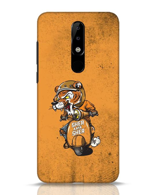 Shop Sher Aaya Sher Nokia 5.1 Plus Mobile Cover-Front