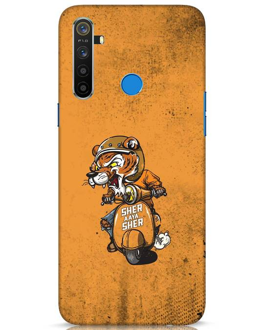Shop Sher Aaya Sher Realme 5 Mobile Cover-Front
