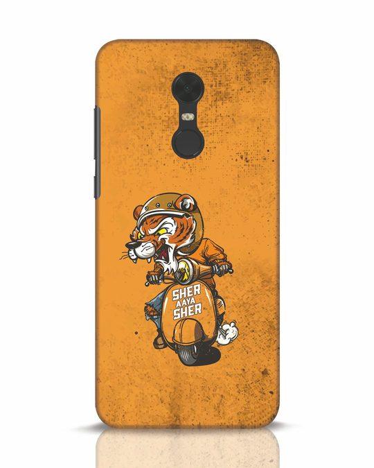 Shop Sher Aaya Sher Xiaomi Redmi Note 5 Mobile Cover-Front