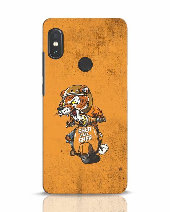 Shop Sher Aaya Sher Xiaomi Redmi Note 5 Pro Mobile Cover-Front