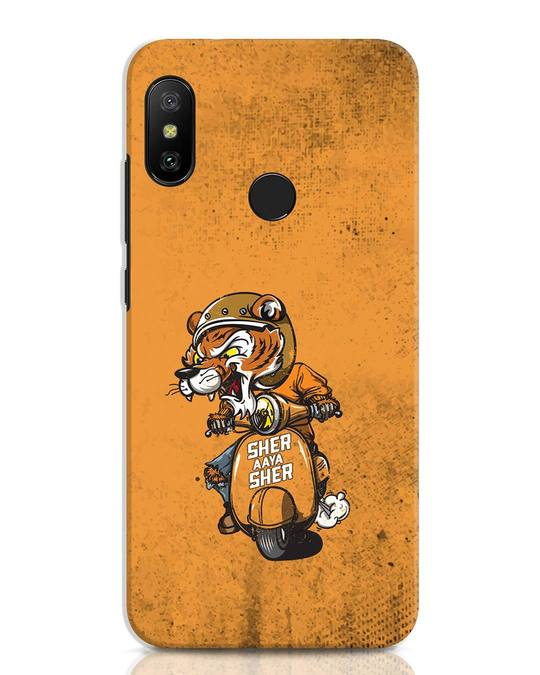 Shop Sher Aaya Sher Xiaomi Redmi Note 6 Pro Mobile Cover-Front