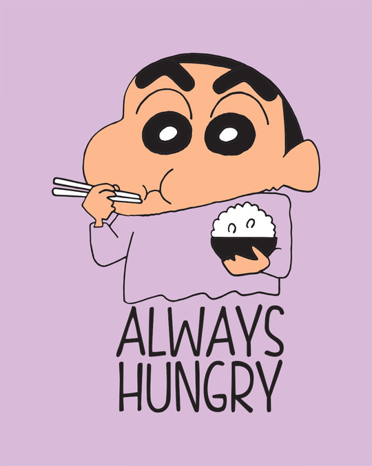 Shop Shinchan Always Hungry Boyfriend T-Shirt (SCL)