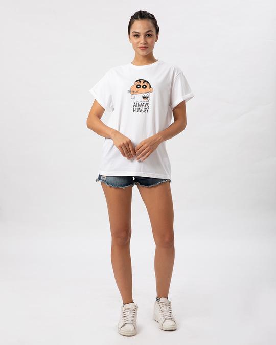Shop Shinchan Always Hungry Boyfriend T-Shirt (SCL)-Full