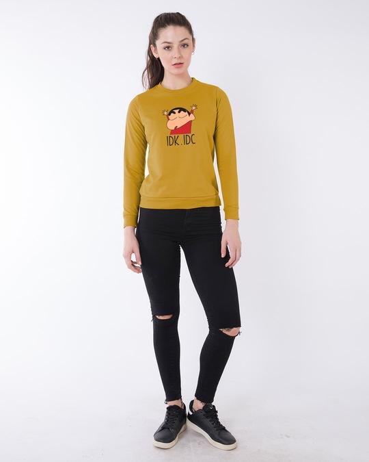 Shop Shinchan IDK IDC (SHL) Fleece Sweater-Design