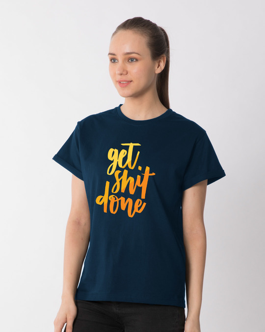Shop Shit Done Typo Boyfriend T-Shirt-Back