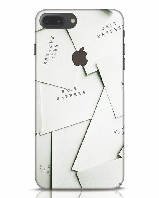Shop Shit Happens Paper iPhone 7 Plus Logo Cut Mobile Cover-Front