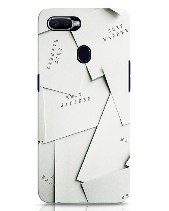 Shop Shit Happens Paper Oppo F9 Pro Mobile Cover-Front