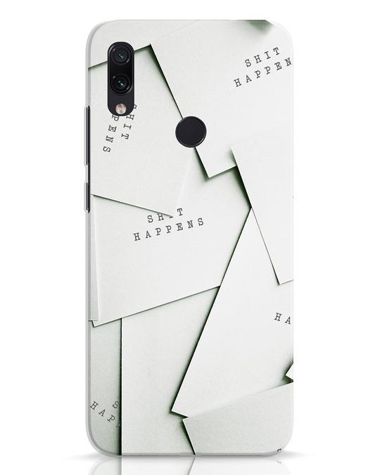 Shop Shit Happens Paper Xiaomi Redmi Note 7 Mobile Cover-Front