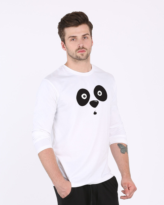 Shop Shocked Panda Full Sleeve T-Shirt-Back