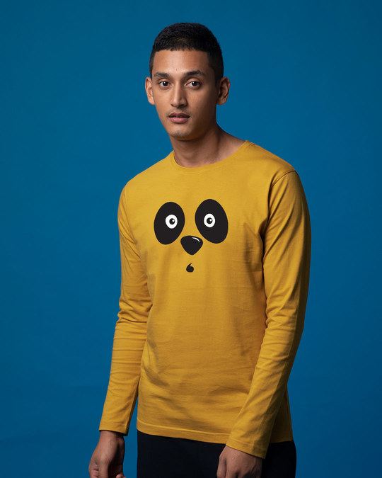 Shop Shocked Panda Full Sleeve T-Shirt-Back
