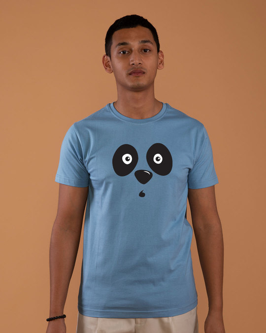 Shop Shocked Panda Half Sleeve T-Shirt-Back