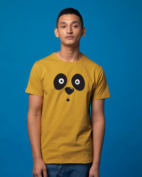 Shop Shocked Panda Half Sleeve T-Shirt-Back